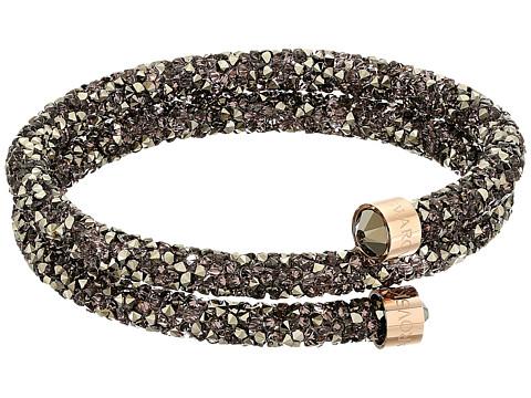 Swarovski Crystaldust Bangle Double Wrap Bracelet - Brown