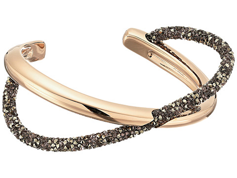 Swarovski Crystaldust Cross Cuff Bracelet - Brown