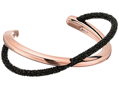 Swarovski Crystaldust Cross Cuff Bracelet - Black