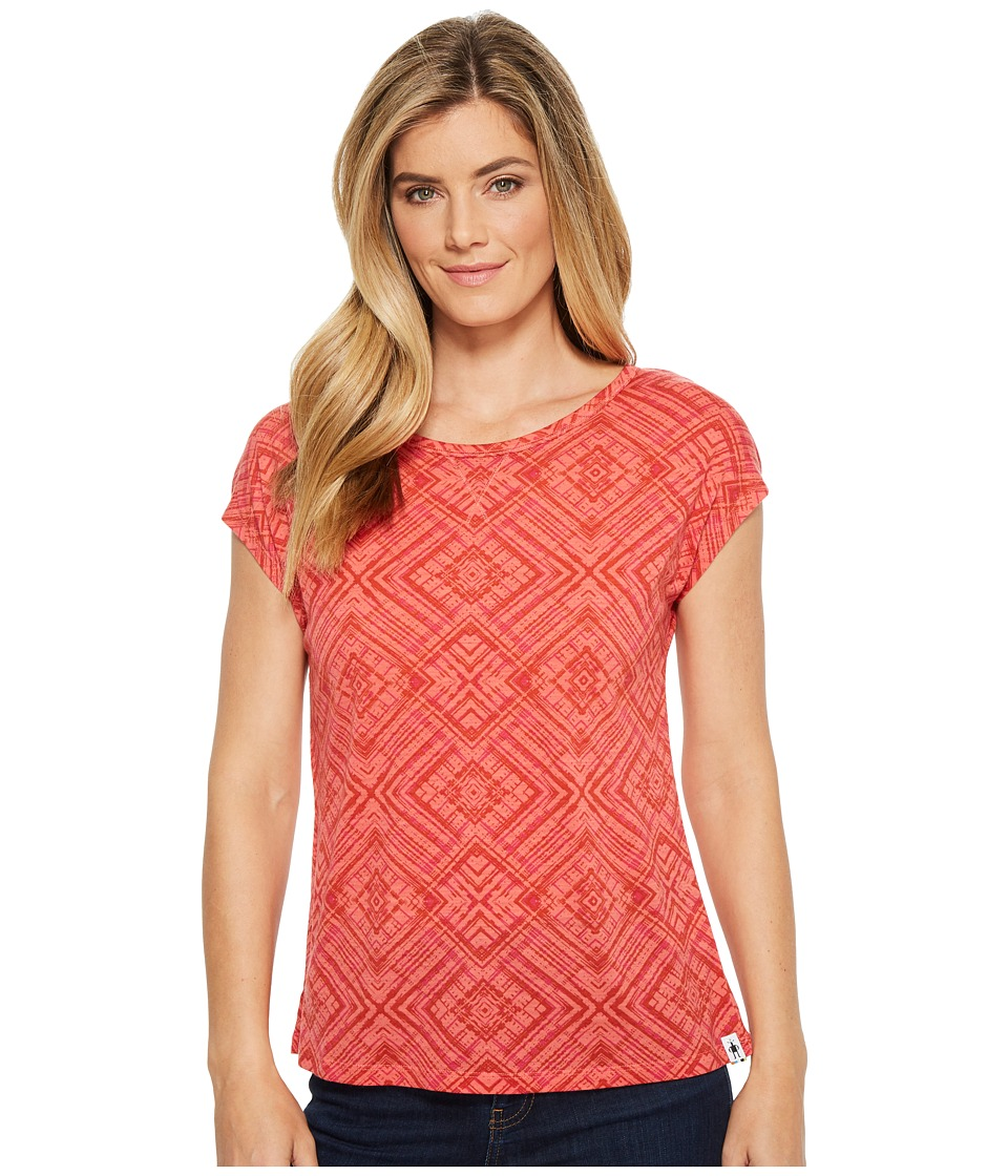 Smartwool Merino 150 Pattern Tee (Bright Coral) Women