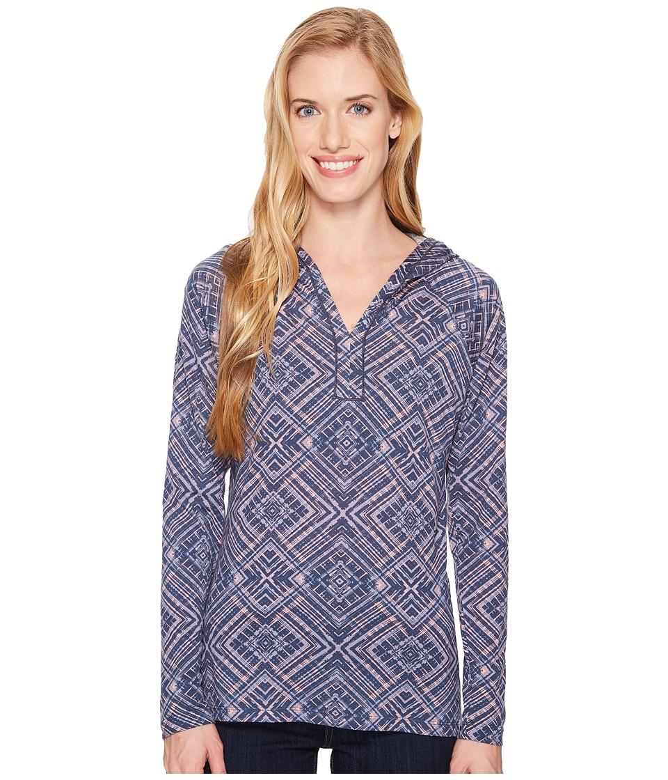 Smartwool Merino 150 Pattern Hoodie (Dark Blue Steel) Women