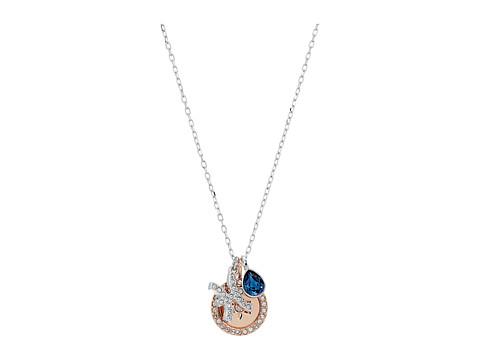 Swarovski Zodiac Pendant Pisces Necklace - Teal