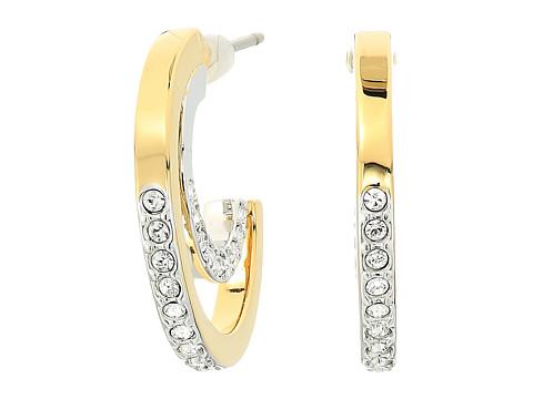 Swarovski Circle Pierced Small Hoop Earrings - White