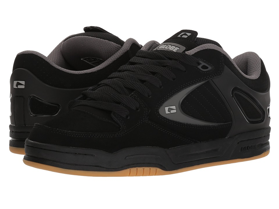 Globe - Agent (Black/Black/Charcoal) Mens Skate Shoes
