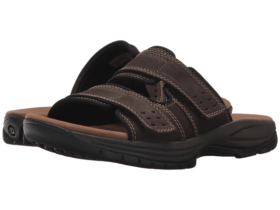Dunham Newport Slide (Dark Brown) Men