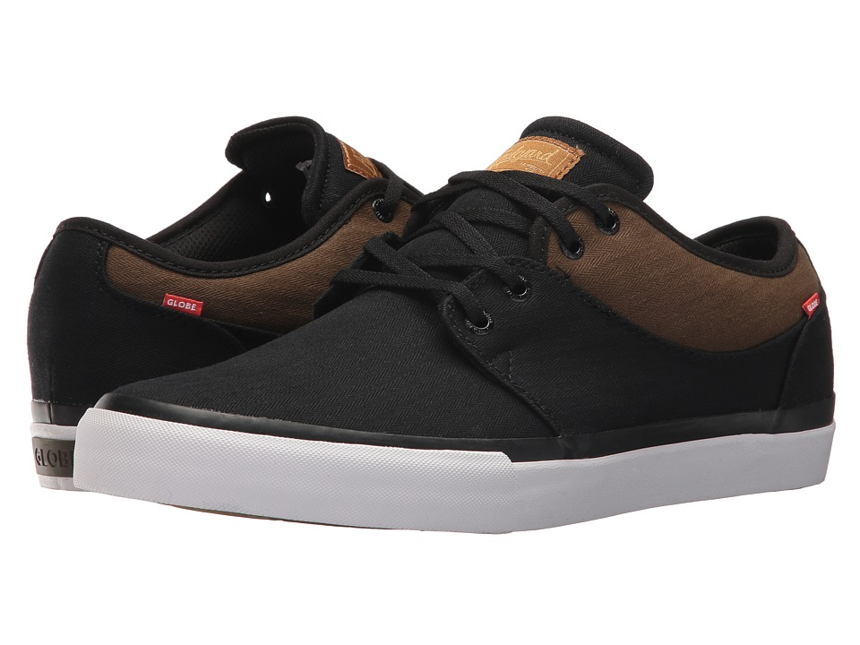 Globe - Mahalo (Black Twill/Olive) Mens Skate Shoes