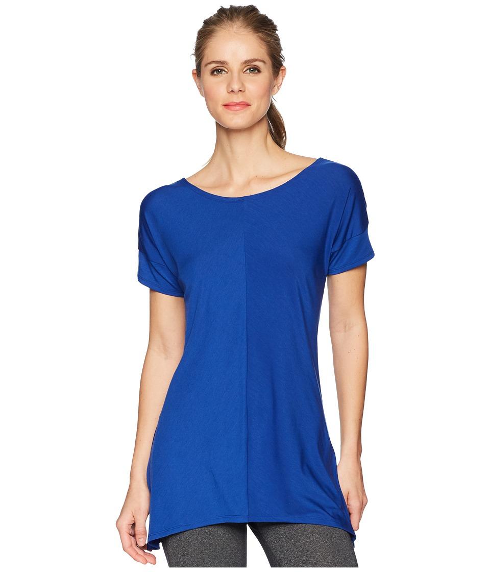 ExOfficio - Wanderluxtm Cross-Back Short Sleeve Top (Blue Glaze) Womens Short Sleeve Pullover