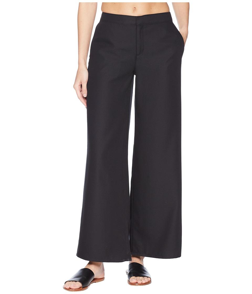 ExOfficio - Basilica Wide-Leg Pants (Black) Womens Casual Pants