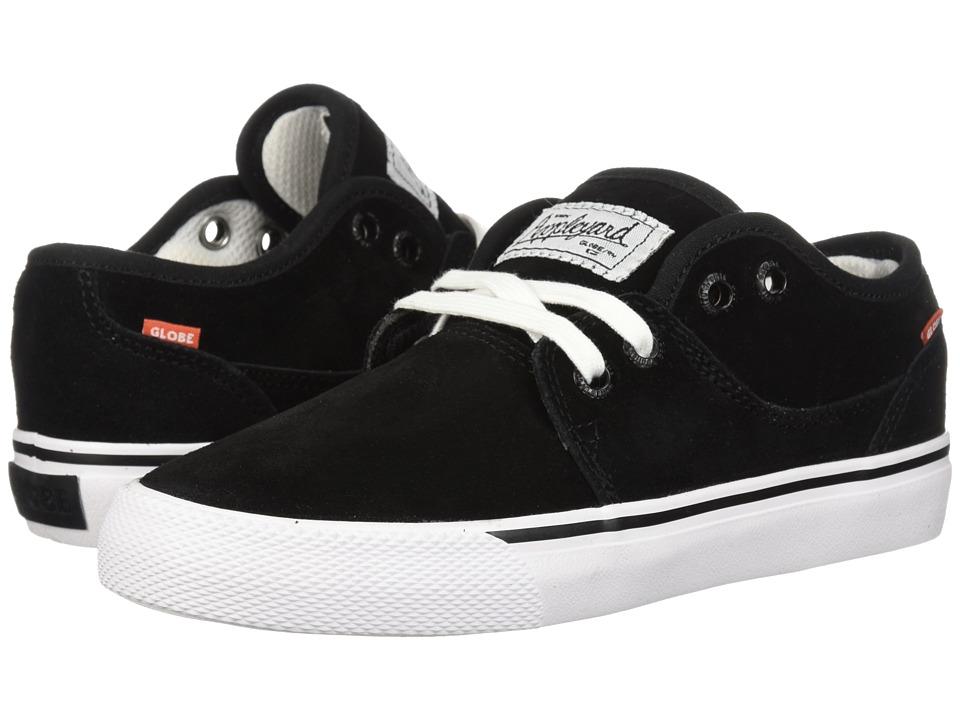 Globe - Mahalo (Little Kids/Big Kids) (Black/White) Mens Skate Shoes
