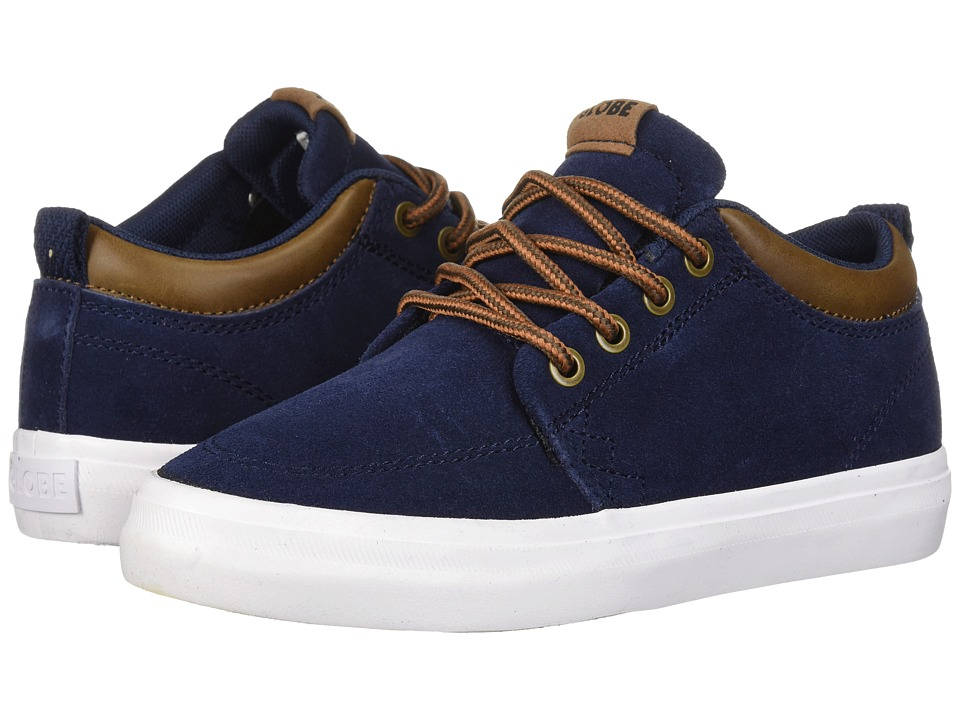 Globe - GS Chukka (Little Kids/Big Kids) (Navy Suede) Mens Skate Shoes