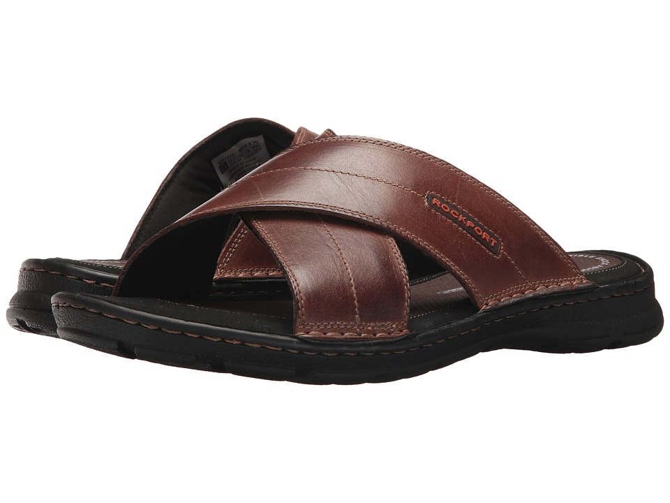 Rockport - Darwyn Cross Band (Coach Brown Leather) Men's Sandals