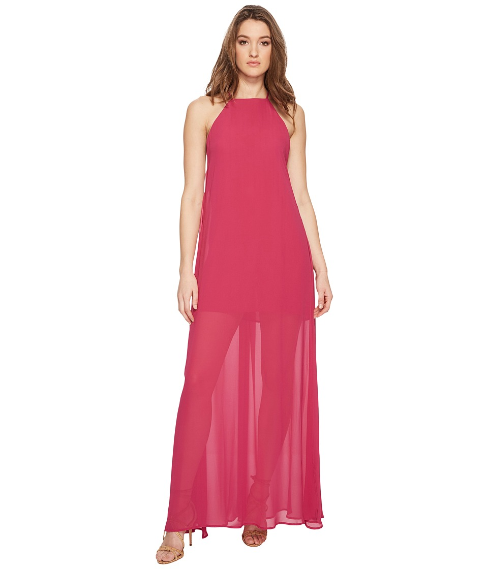 Show Me Your Mumu - Bronte Maxi Dress (Fuchsia Pop Chiffon) Womens Dress