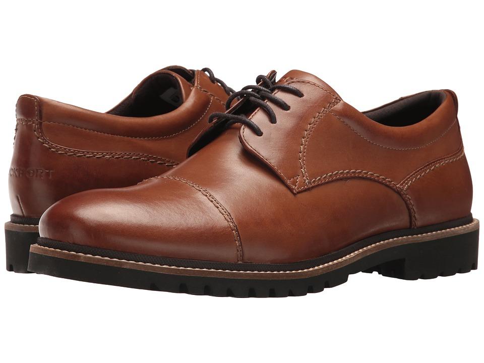 Rockport Marshall Cap Toe Oxford (Cognac Leather) Men