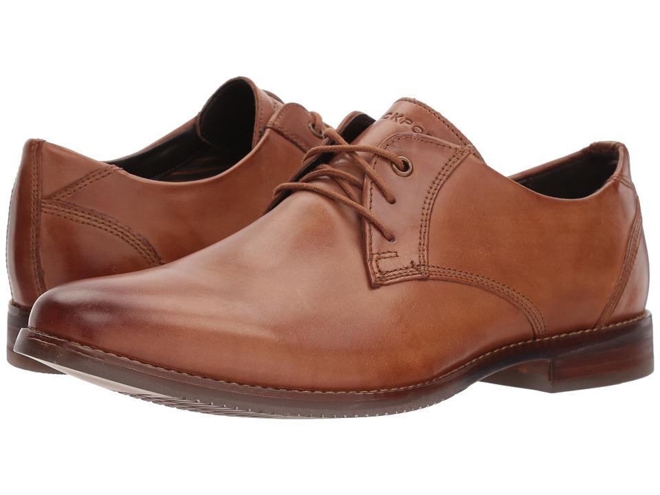 Rockport Style Purpose Blucher (Cognac Leather) Men