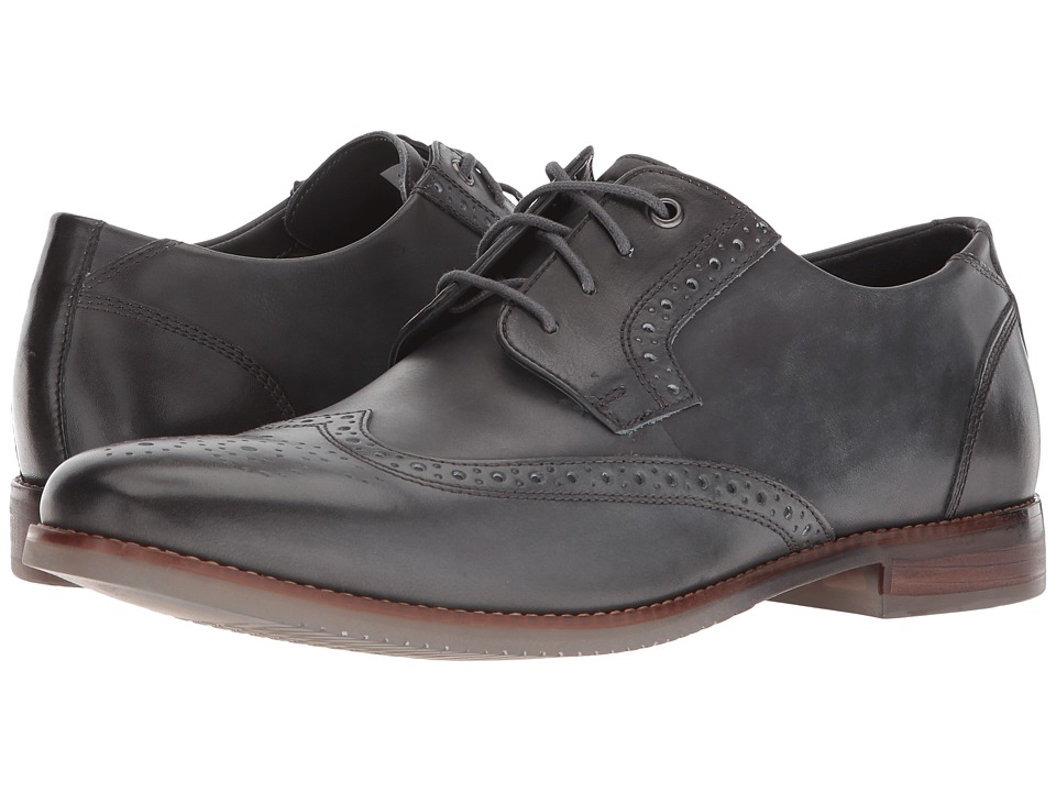 Rockport - Style Purpose Wing Tip Blucher (Dark Shadow Leather) Mens Shoes