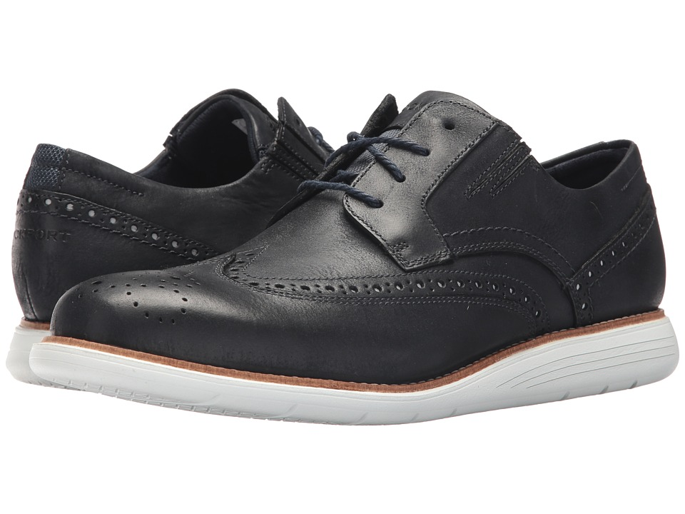 Rockport - Total Motion Sports Dress Perf Wing Tip (New Dress Blues 2) Mens Shoes