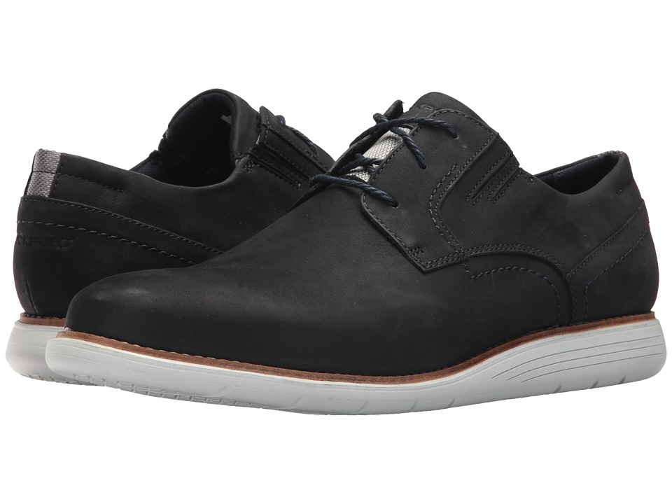 Rockport - Total Motion Sports Dress Plain Toe (New Dress Blues Nubuck) Mens Shoes