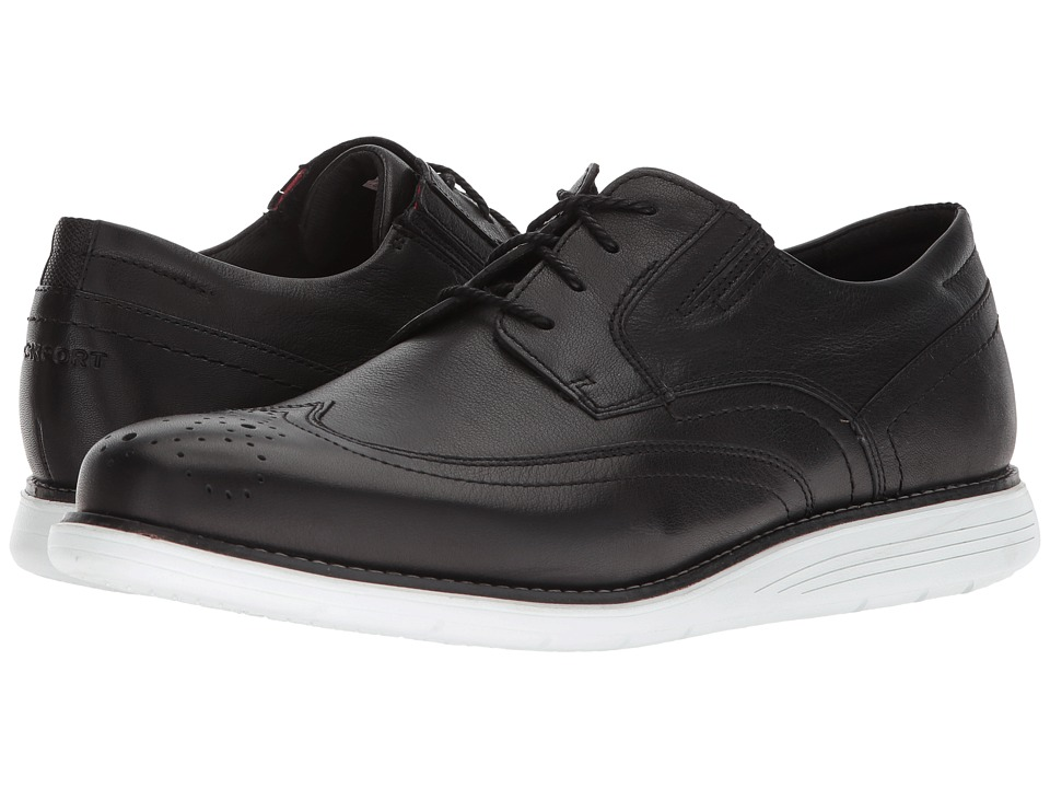 Rockport - Total Motion Sports Dress Wing Tip (Black Leather) Mens Shoes