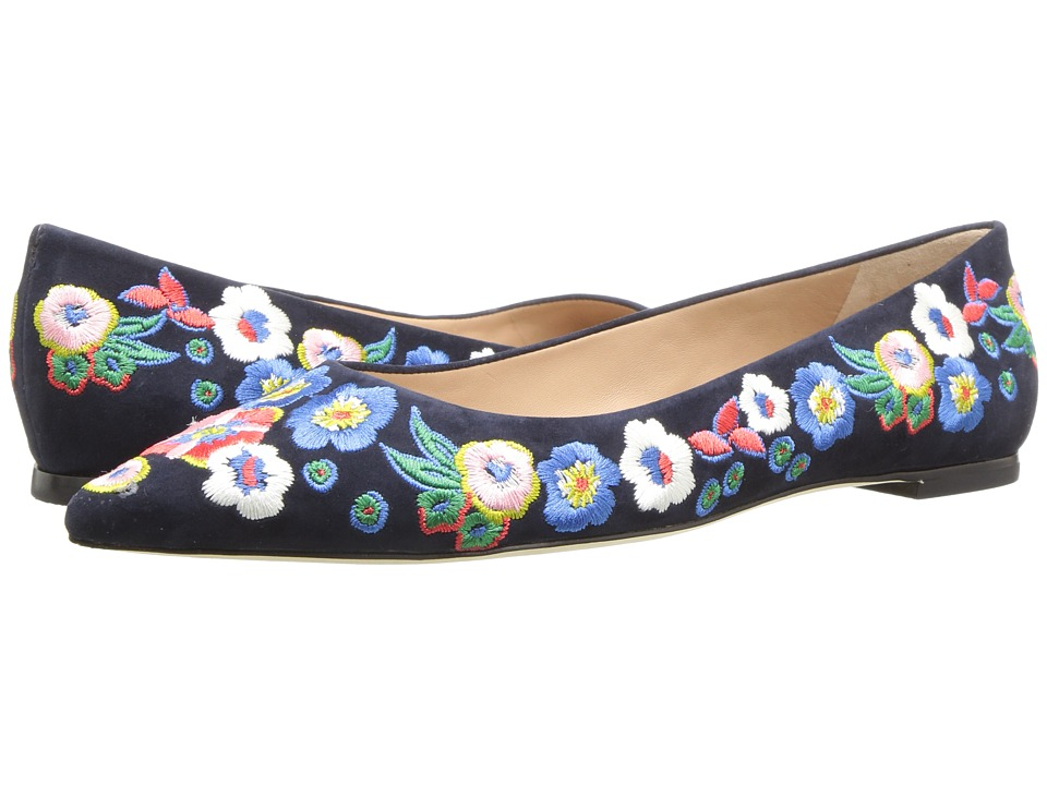 Tory Burch Rosemont Embroidered Ballet (Pansy Bouquet) Women