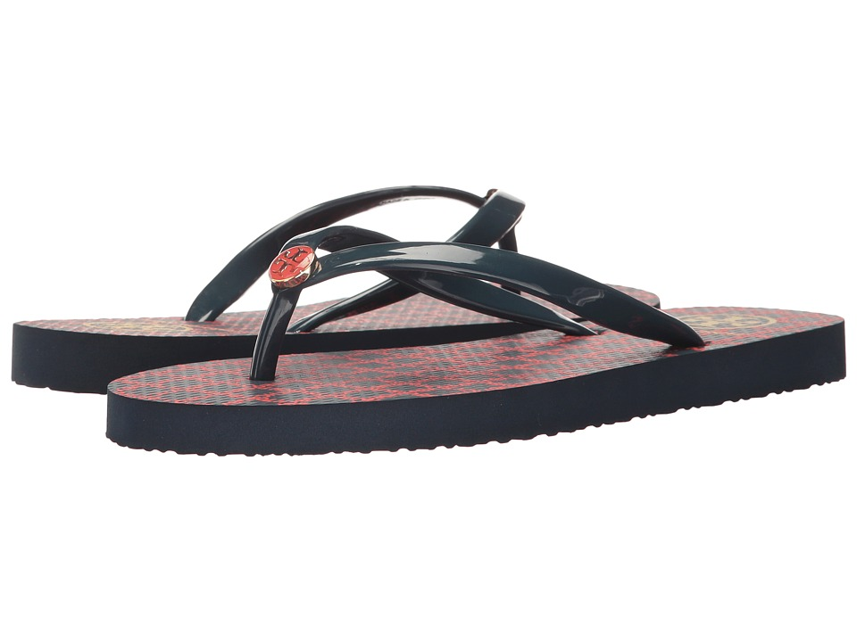 Tory Burch Thin Flip Flop (Letter Check) Women