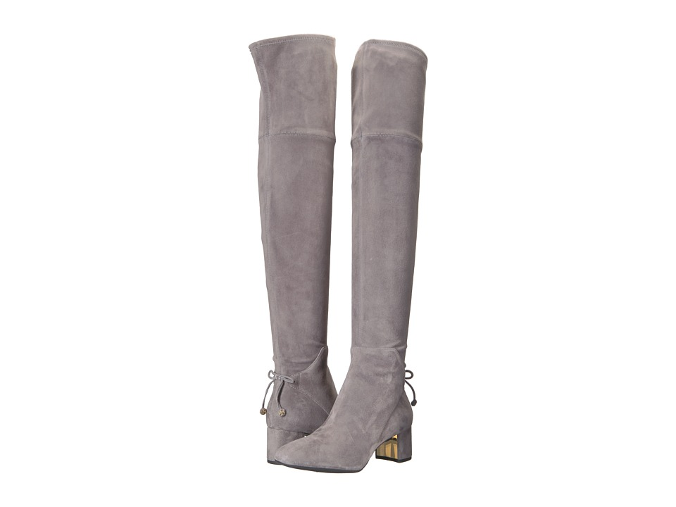 Tory Burch Laila 45mm Over The Knee Boot (Carbon) Women