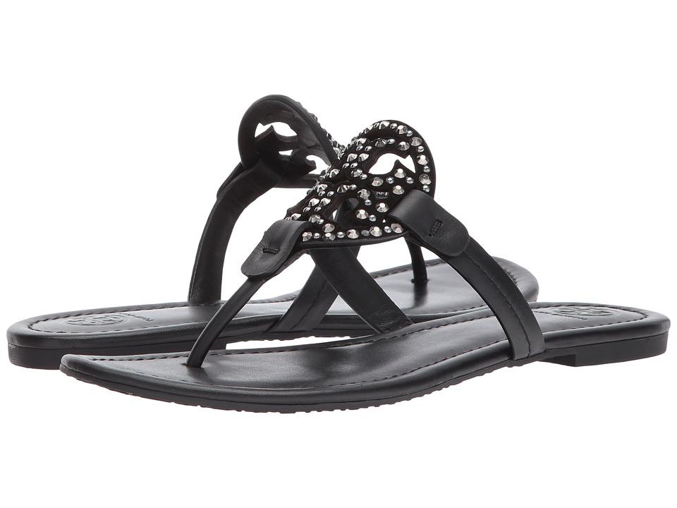 Tory Burch - Miller Embellished Sandal (Black/Black) Women's Dress Sandals