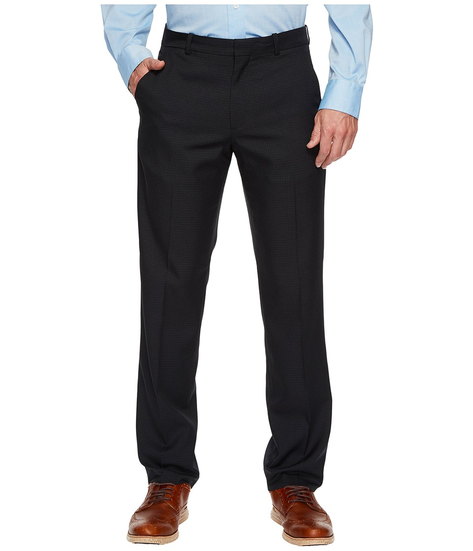 Perry Ellis Portfolio - Modern Fit Small Check Performance Pants