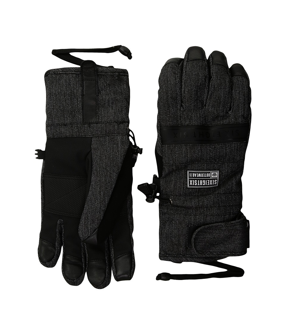 686 Infiloft Recon Gloves (Black Denim) Extreme Cold Weather Gloves