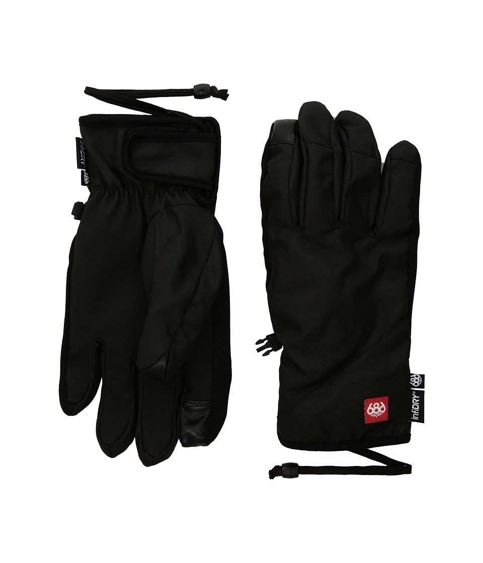 686 Ruckus Pipe Gloves (Black) Extreme Cold Weather Gloves