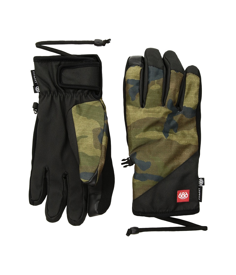 686 Ruckus Pipe Gloves (Fatigue Camo Print) Extreme Cold Weather Gloves