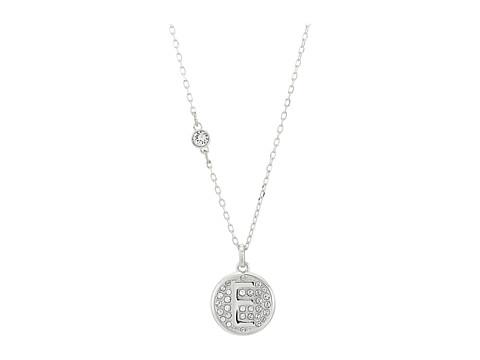 Swarovski Letter Pendant Necklace - White-E