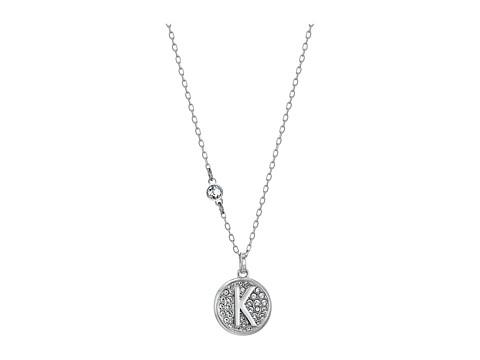 Swarovski Letter Pendant Necklace - White-K