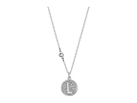 Swarovski Letter Pendant Necklace - White-L