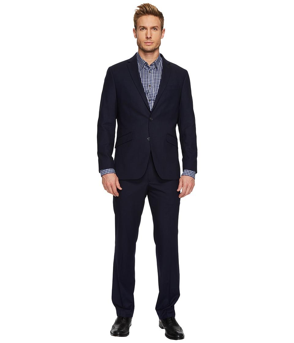 Kenneth Cole Reaction - Flatiron Hustle Mini Check Suit (Navy) Mens Suits Sets