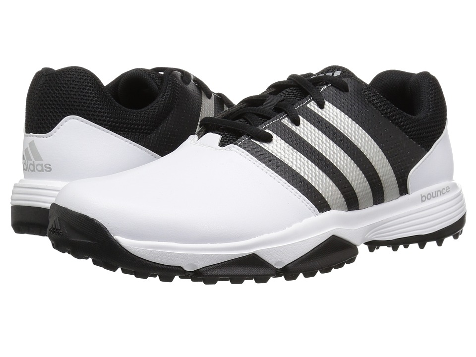 Image of adidas Golf - 360 Traxion (Footwear White/Footwear White/Core Black) Men's Golf Shoes