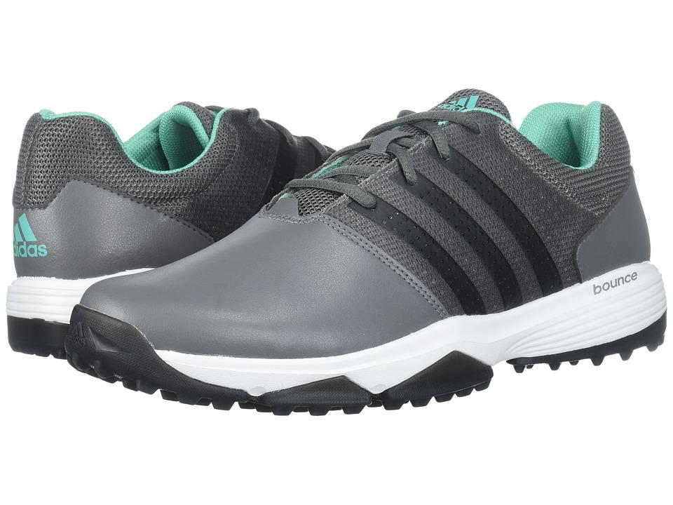 Image of adidas Golf - 360 Traxion (Grey Four/Core Black/Hi-Res Green) Men's Golf Shoes