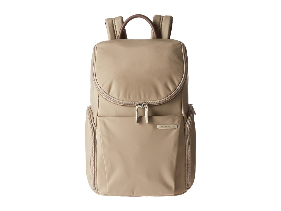 Briggs & Riley - Sympatico Small U Zip Backpack (Caramel) Backpack Bags
