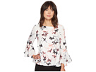 Vince Camuto Lily Melody Bell Sleeve Fold-Over Blouse