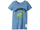 The Original Retro Brand Kids Dinomyte Short Sleeve Heather Tee (Toddler)