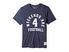The Original Retro Brand Kids Weekends Are for Football Short Sleeve Tri-Blend Tee (Big Kids)