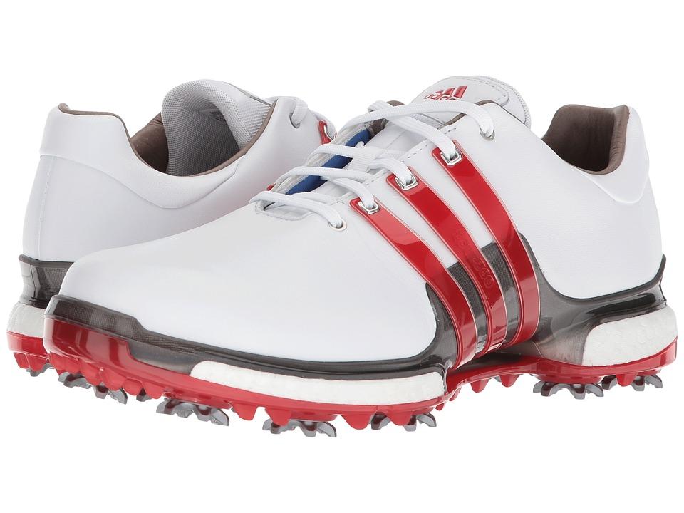Adidas Golf - Tour360 2.0 (Footwear White/Scarlet/Dark Si...