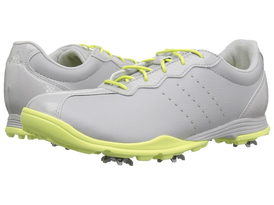 adidas Golf Adipure DC (Grey One/Silver Metallic/Semi Frozen Yellow) Women's Golf Shoes