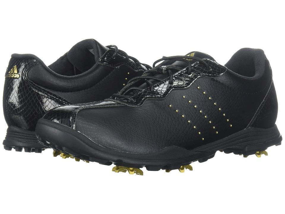 adidas Golf Adipure DC (Core Black/Gold Metallic/Core Black) Women's Golf Shoes
