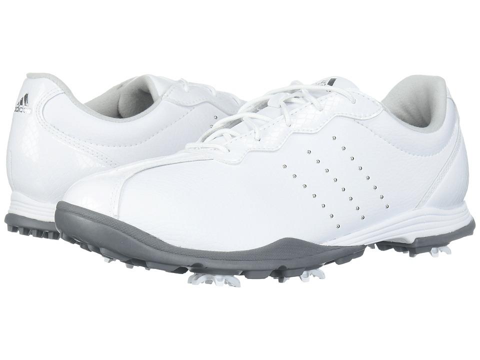 adidas Golf Adipure DC (Footwear White/Silver Metallic/Silver Metallic) Women's Golf Shoes