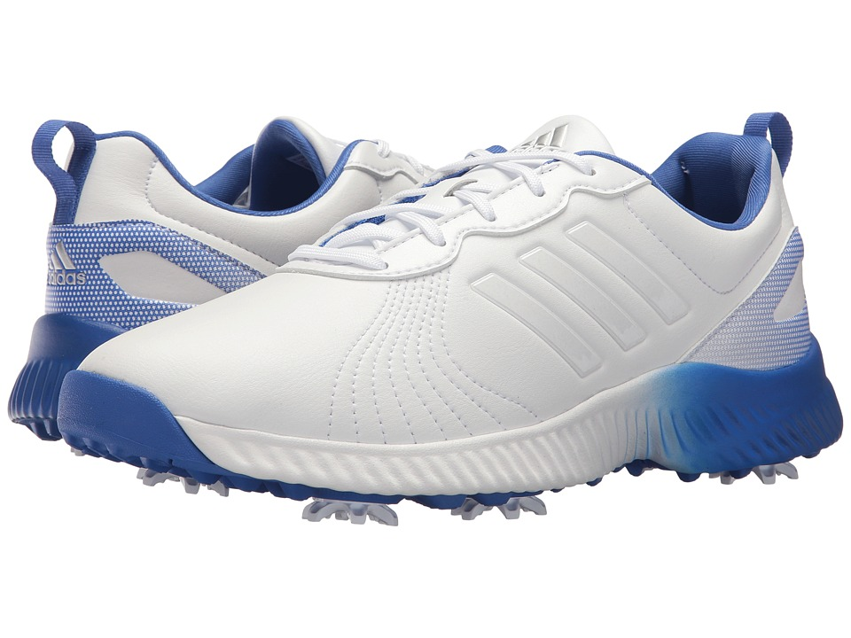 adidas Golf Response Bounce (Footwear White/Footwear White/Hi-Res Blue) Women's Golf Shoes