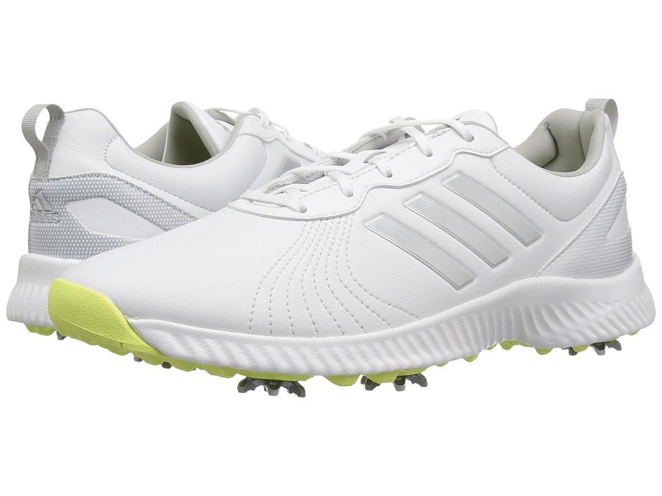 adidas Golf Response Bounce (Footwear White/Silver Metallic/Semi Frozen Yellow) Women's Golf Shoes