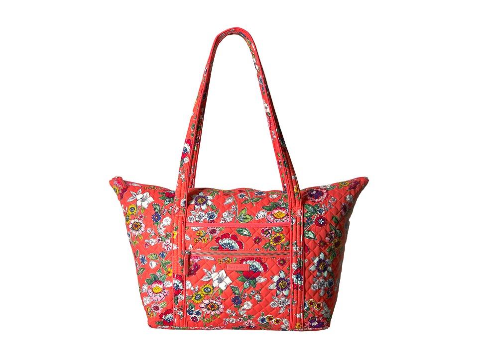 Vera Bradley Iconic Miller Travel Bag (Coral Floral) Luggage