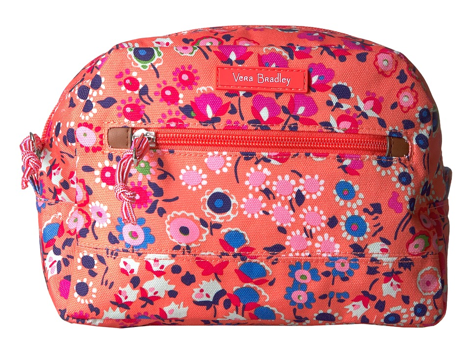 Vera Bradley - Medium Cosmetic (Coral Meadow) Luggage