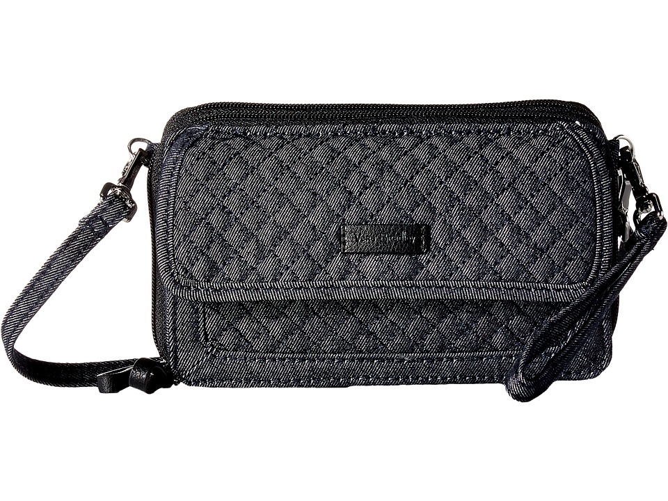 Vera Bradley Iconic RFID All-In-One Crossbody (Classic Black) Cross ... 4a1492c09e