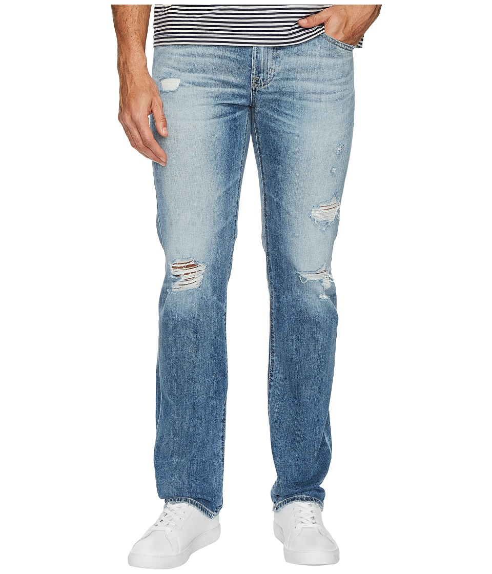 AG Adriano Goldschmied - Matchbox Slim Straight Led Denim in 21 Years Blue Isle (21 Years Blue Isle) Mens Jeans